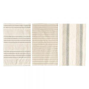 Cotton Striped Tea Towels 3pk