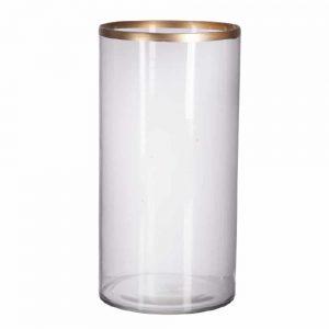 Glass Gold Rim Vase