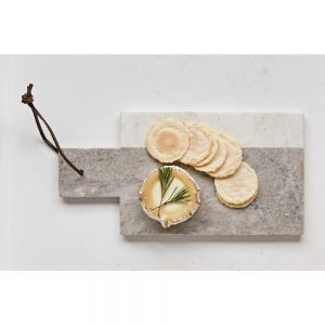 Grey And White Cheese Board