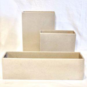 Stone Resin Pot – Cream (12×8, 4×16, 8×8)