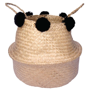 Woven Seagrass Basket Natural With Handles