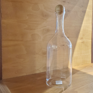 Glass Bottle With Wood Cap