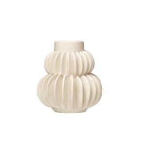 Handmade Pleated Stoneware Vase